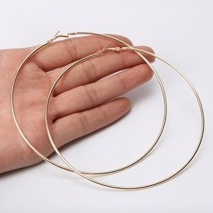 Jewelry - NEW Large Gold Gold Hoops - 4 for $20!